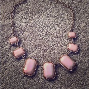 Pretty light pink / peachy and gold necklace